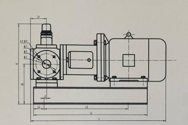 CQY磁力驱动圆弧齿轮泵外形及安装尺寸